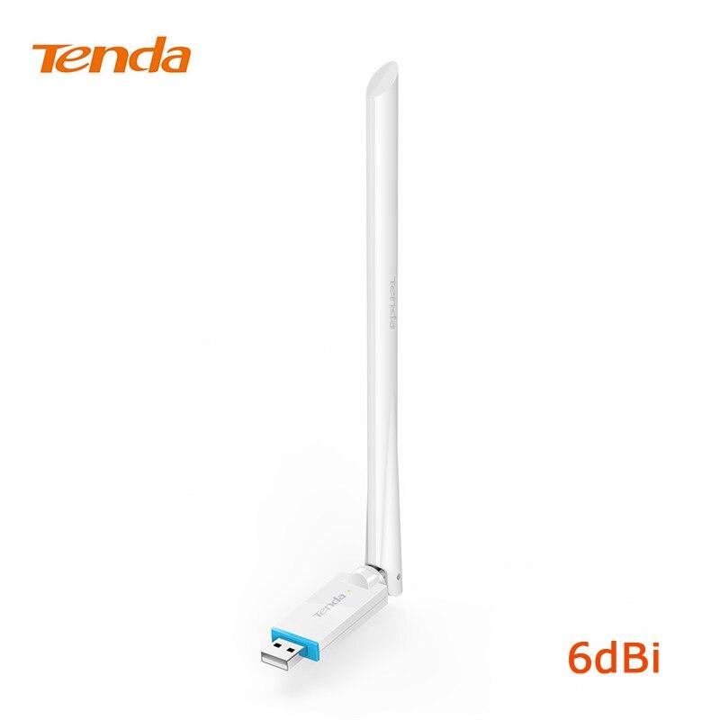 Tenda U2 адаптер N150 высокого усиления Беспроводной USB Adapte USB сетевой карты 150 Мбит/с, plug-and-play, 6dbi внешний Телевизионные антенны