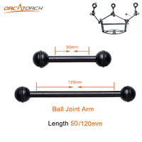 2pcs High Quality 50mm 120mm Ball Joint Arm Camera Tray Holder Bracket For Underwater Scuba Diving