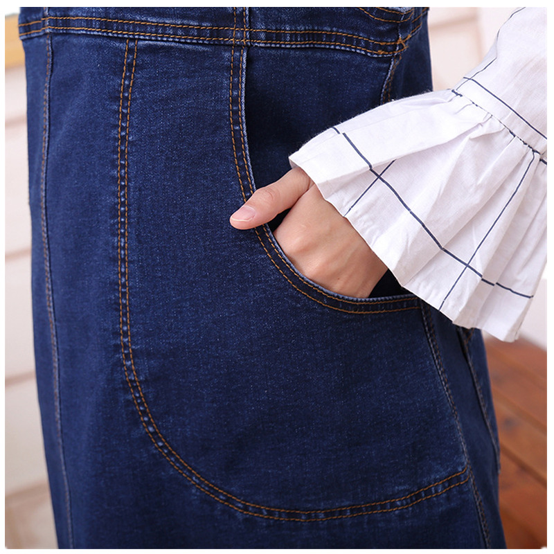 52b9c39802 Newest Maternity Jeans For Pregnant Women Pregnancy Pants Belly Skirt  Cowboy Suspenders Skirt Plus Size Dress-in Dresses from Mother & Kids on ...