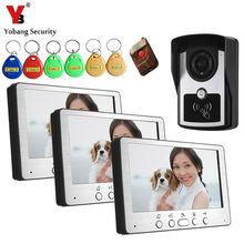 Best price Yobang Security 700TVL Remote Access Control Bell System IR Night Vision Video Intercom 7″ Video Door Phone Waterproof Camera