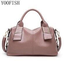 YOOFISH   Designer Women Handbag Female PU Leather Bags Handbags Ladies Portable Shoulder Bag Office Ladies Hobos Bag Totes