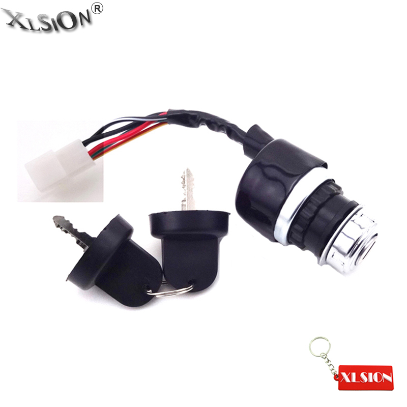 Chinese Go Kart Dune Buggy ATV UTV Off Road 4 Wires Ignition Key Switch 4 Wire