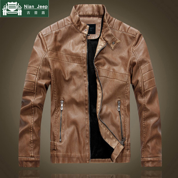 2020 Hot Sell High quality New Spring fashion leather jackets Men Motorcycle Style men's leather jacket Casual Slim Clothing