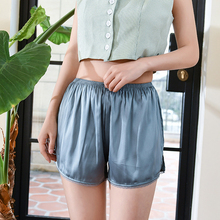 SP&CITY High Quality Silk Ruffle Seamless Women Safety Short Pants Lace Decoration Under Dress Soft Sexy Louge