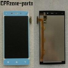 100% garanti beyaz IUNI Için U2 Snapdragon 800 Lcd Ekran Ile dokunmatik ekranlı sayısallaştırıcı grup tarafından ücretsiz kargo