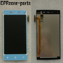 100% warranty white For IUNI U2 Snapdragon 800 Lcd display With Touch Screen digitizer assembly by free shipping