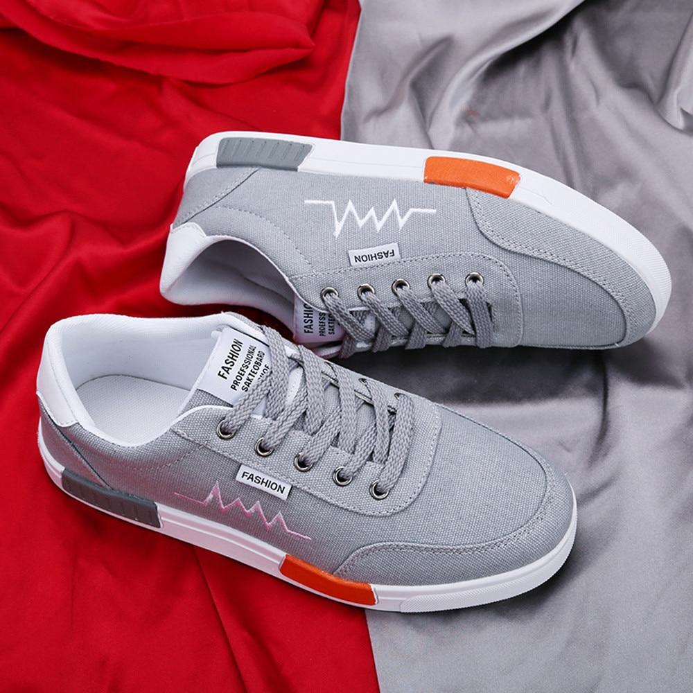 Deporte Hombres 20180823 gris Redonda Zapatilla rojo Punta Plana Casual Desgaste Cómoda Dropshipping Para blanco Resistente Hasta Negro Zapatos De Encaje 7A7xwrS