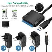 USB 3.0 a Sata convertitore dell'adattatore del cavo USB3.0 Convertitore di Cavo per Samsung Seagate WD 2.5 3.5 HDD SSD Adattatore