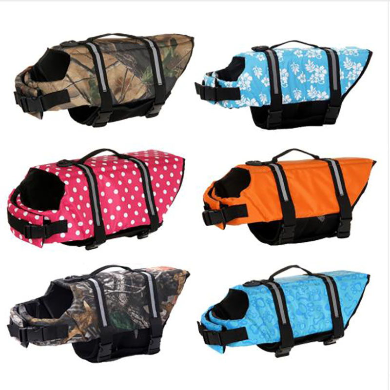 HJKL Dog Life Jacket Pet Saver Life Vest Swimming Preserver Dog Puppy Swimwear Surfing Swimming Vest Reflective Stripes