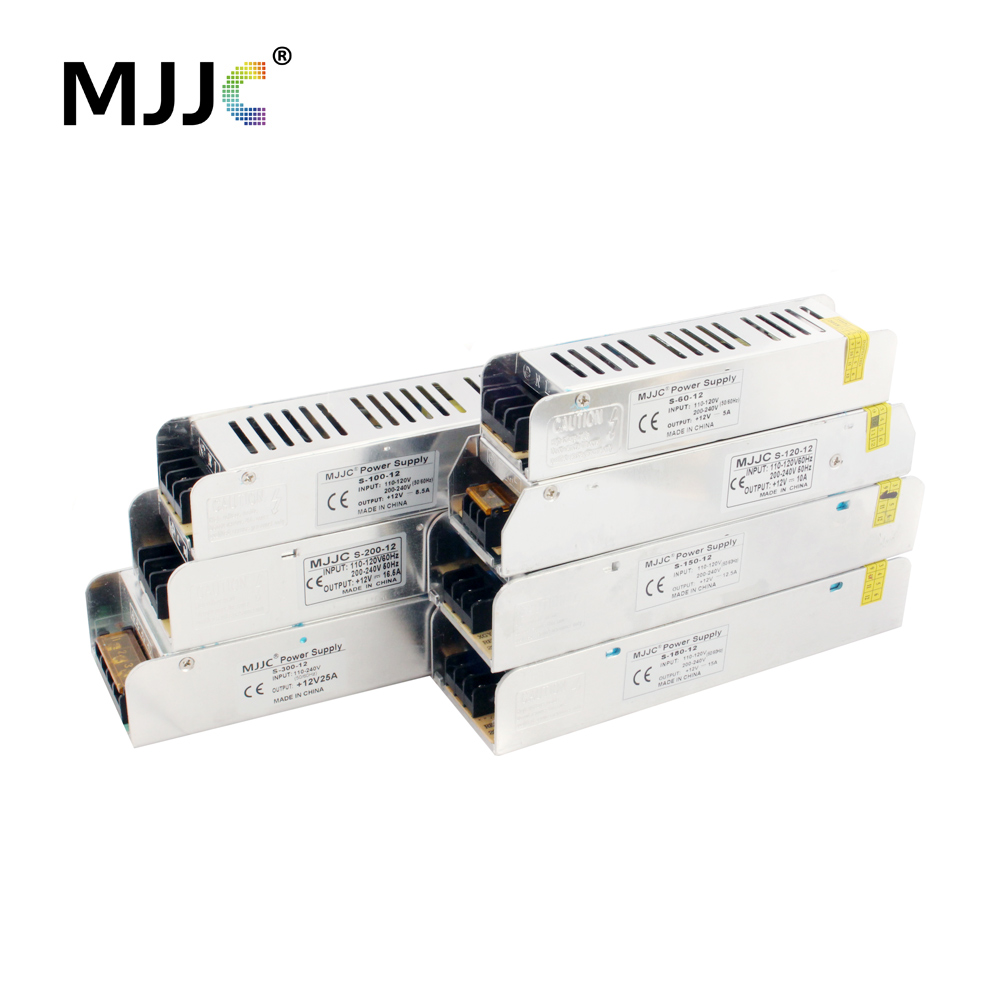 12 Volt Power Supply Unit 110V 220V AC to 12V 10A 120W 5A 60W 20A 25A 30A Switching Power Supply Light Transformer for LED Strip
