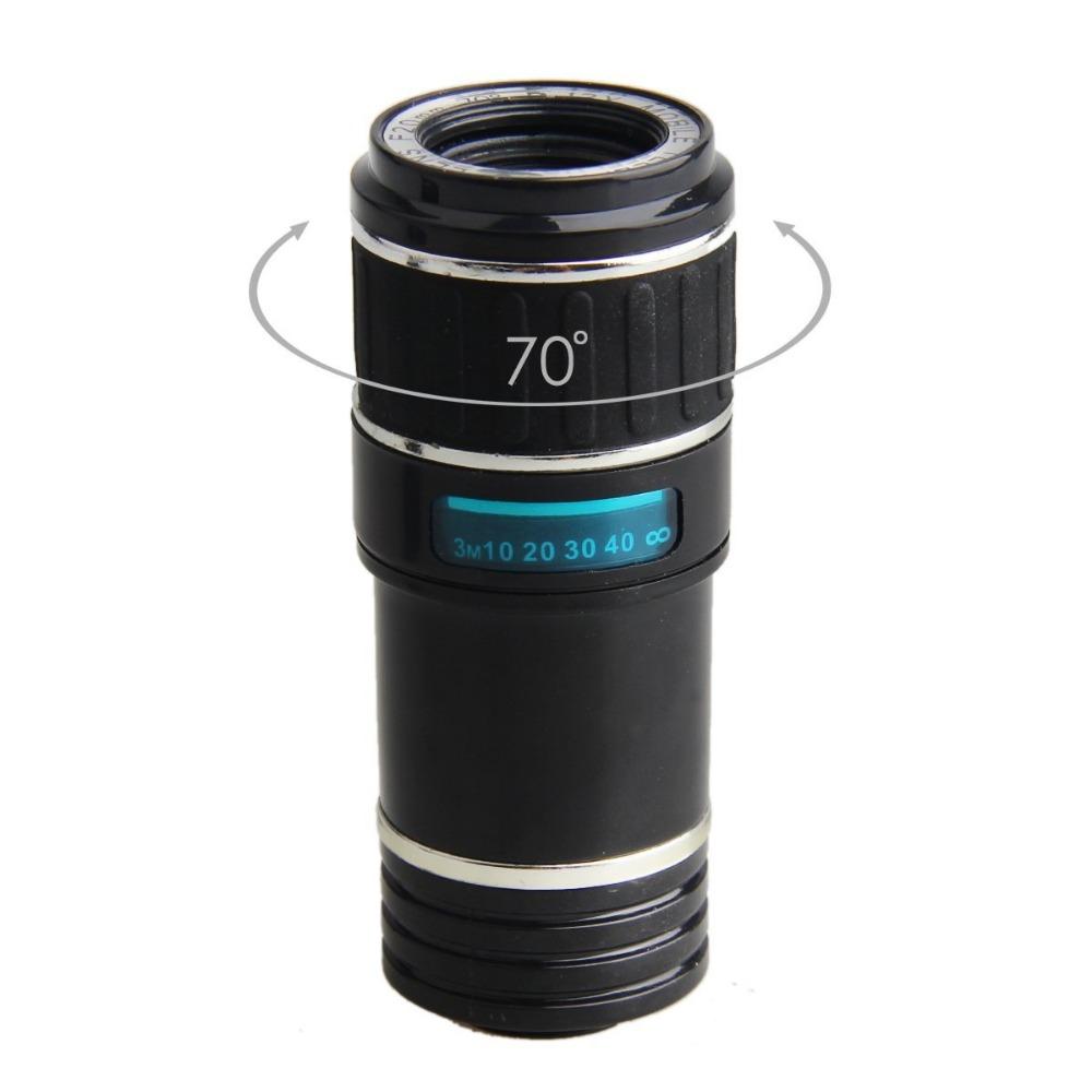HD Phone Lens for Iphone 7 7plus Samsung S8 S7 Huawei 12X Zoom Optical Telephoto Telescope Mobile Phone Camera lens V06 3