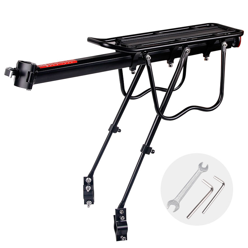 20-29 inch Bicycle Carrier Bike Luggage Cargo Rear Rack Aluminum Alloy Shelf Saddle Bags Holder Stand Support With Mount Tools multi purpose bicycle carrier rubber luggage strap cord rope cable with clip random color 112cm