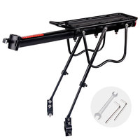 20 29 inch Bicycle Carrier Bike Luggage Cargo Rear Rack Aluminum Alloy Shelf Saddle Bags Holder Stand Support With Mount Tools