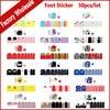50pcs Fashion Summer Foot Toe Adhesive Nail Art Stickers Wraps Flower Cartoon Designs DIY Pedicure Feet