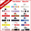 50pcs Fashion Summer Foot Toe Adhesive Nail Art Stickers Wraps Flower Cartoon Designs DIY Pedicure Feet