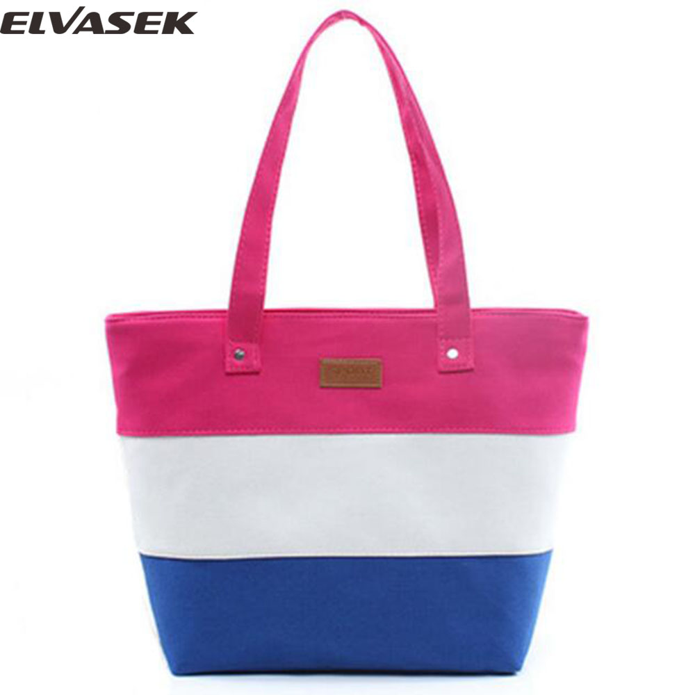 Elvasek 2016 fashion women handbags print flower messenger bags lunch bag canvas handbag make up bags female bolsas LS7521 cute cartoon women bag flower animals printing oxford storage bags kawaii lunch bag for girls food bag school lunch box z0
