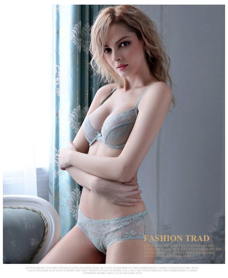 478a2642db6 2017 New ABCD 32 42 Sexy underwear women bras sets deep V BRA   Panties  lace bra Lingerie set brassiere women briefs-in Bra   Brief Sets from  Underwear ...