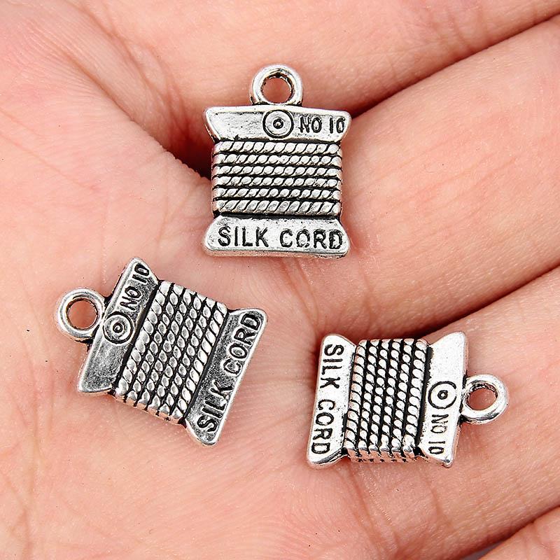 10Pcs Antique Silver cactus Charm Pendant Jewelry Making Bracelet Findings