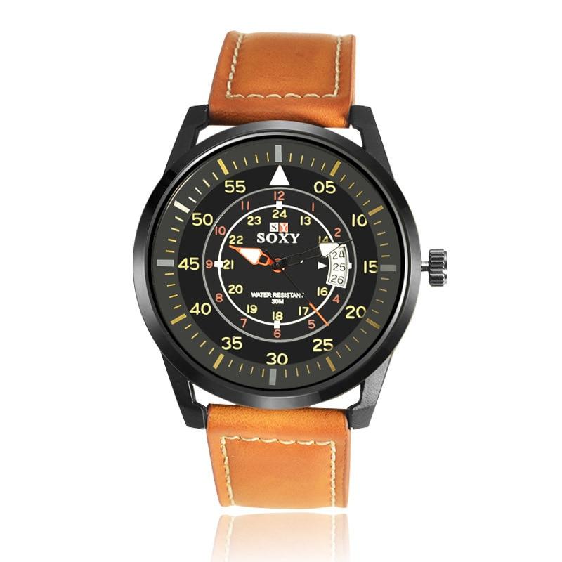kalender herenhorloge quartz herenhorloges Lederen horloges voor - Herenhorloges - Foto 1