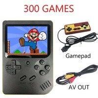 Coolbaby 300 игры ретро мини-видео портативная игровая консоль портативный детский Ностальгический Карманный семейный игровой плеер AV tv Out