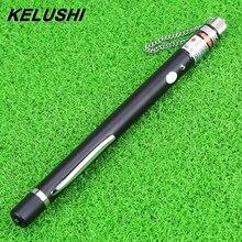 KELUSHI ücretsiz kargo 10mw kalem stil görsel hata bulucu kırmızı lazer ışık kaynağı/Fiber Test arıza dedektörü bulucu aracı 10KM