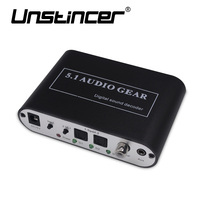 UNSTINCER 5 1 CH Audio Decoder SPDIF Coaxial To RCA DTS AC3 Digital To 5 1