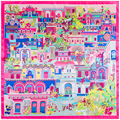 90cm * 90cm new scarf big house architectural pattern ladies scarf large square towel