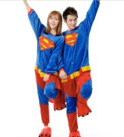 Mens Ladies Blue Red Superman Cartoon Adult Animal Onesies Onsie Kigurumi Pyjamas Pajamas C003 S M