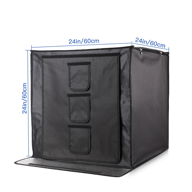 Image 3 - SAMTIAN F60 Light Box 60*60CM LED Lightbox Folding Softbox With Three Colors Background For Studio Photo Photography Box-in Tabletop Shooting from Consumer Electronics