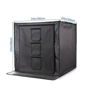 Image 2 - Samtian 사진 상자 60cm 라이트 박스 폴드 소프트 박스 텐트 3 색 배경 쥬얼리 장난감 사진 사진 라이트 박스 led 라이트