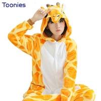 2016 One Piece Pajamas Flannel Women Men Pajama Cartoon Unisex Cosplay Sleepwear Homewear Animal Onsies Set