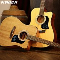 Wooden guitar pick up folk guitar 41inch acoustic guitar beginner play Flattop Guiar 41inch pickup cutaway guitar strap free