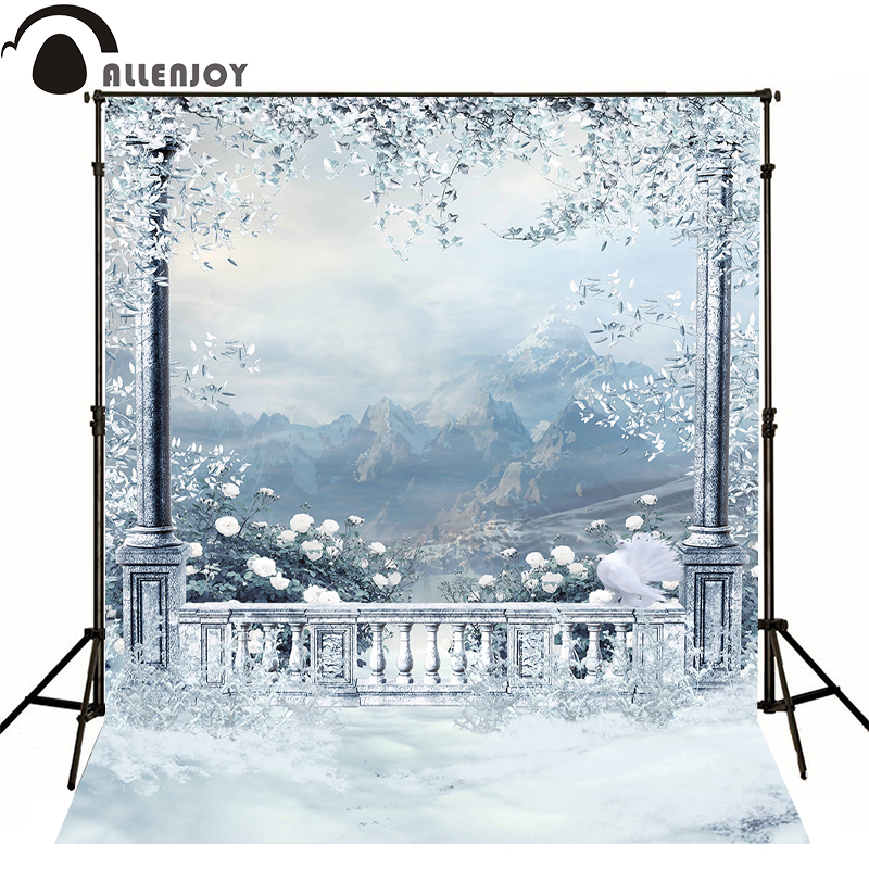 Allenjoy photo background Garden Hill pigeon snow vinyl baby backdrops for photography 150x200cm Computer printing