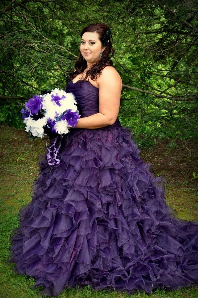 Purple Wedding Dresses Size 14