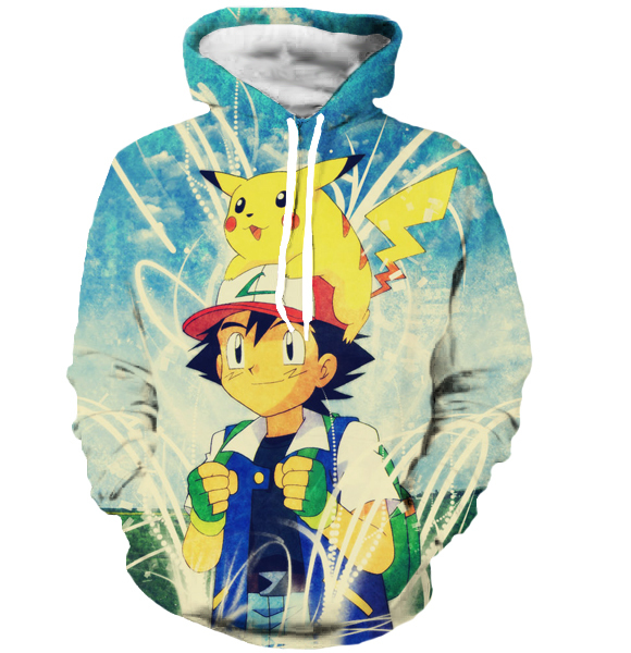 Pokemon Men Women 3D Sweatshirt Hoodies
