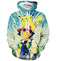 Recentes Engraçado Hoodies Das Mulheres Dos Homens Hipster 3D Camisola Bonito Dos Desenhos Animados Pokemon Pikachu Capuz Camisolas Pullovers Moda Outerwear