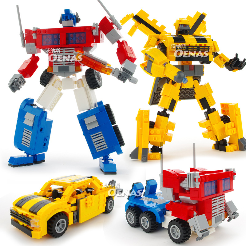 Children Toy Robot Anime Action Figure Transformation Model Car 2 In1 Plastic Abs Yellow Bee Transformed Toys For Kids Mb078