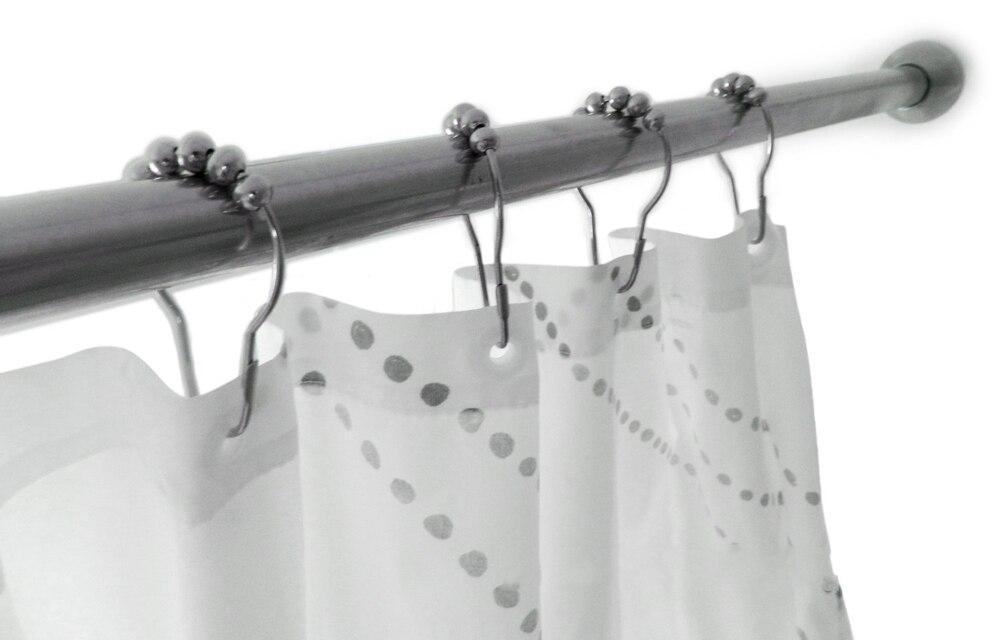 Duurzaam gepolijst satijn ballen badkamer douchegordijn ring