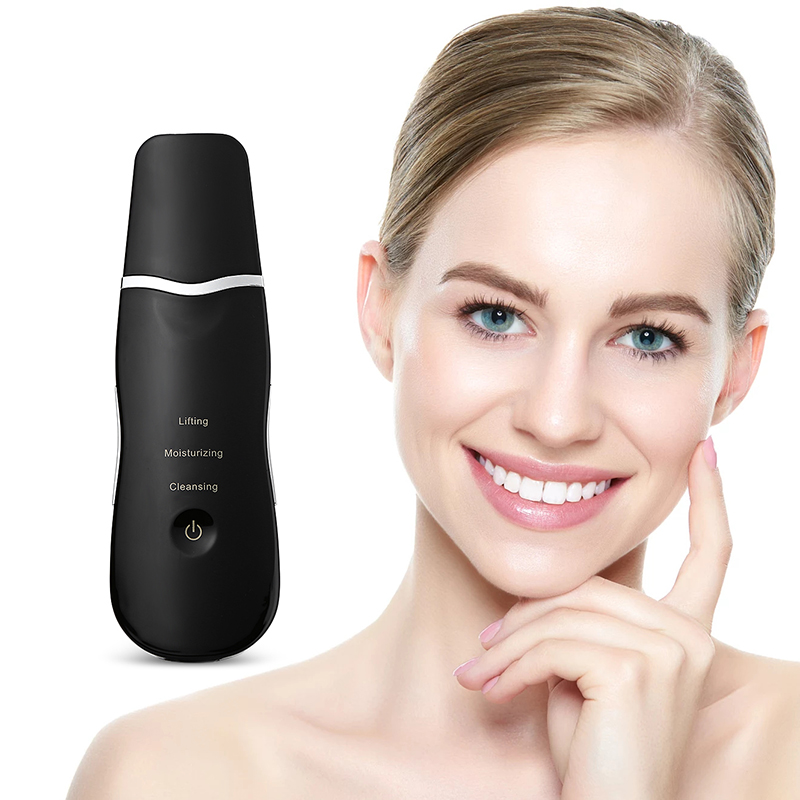 Rechargeable Ultrasonic Face Skin Scrubber Facial Cleaner Peeling Vibration Blackhead Removal Exfoliating Pore Cleaner Tools