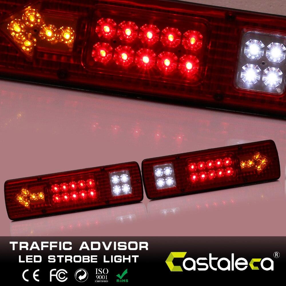 1Pair 12V 19 LED Tail Lights, turn Stop Reverse Indicator Lamp, Truck Trailer Van Bus Car Trailer Caravan Truck Car Accessories