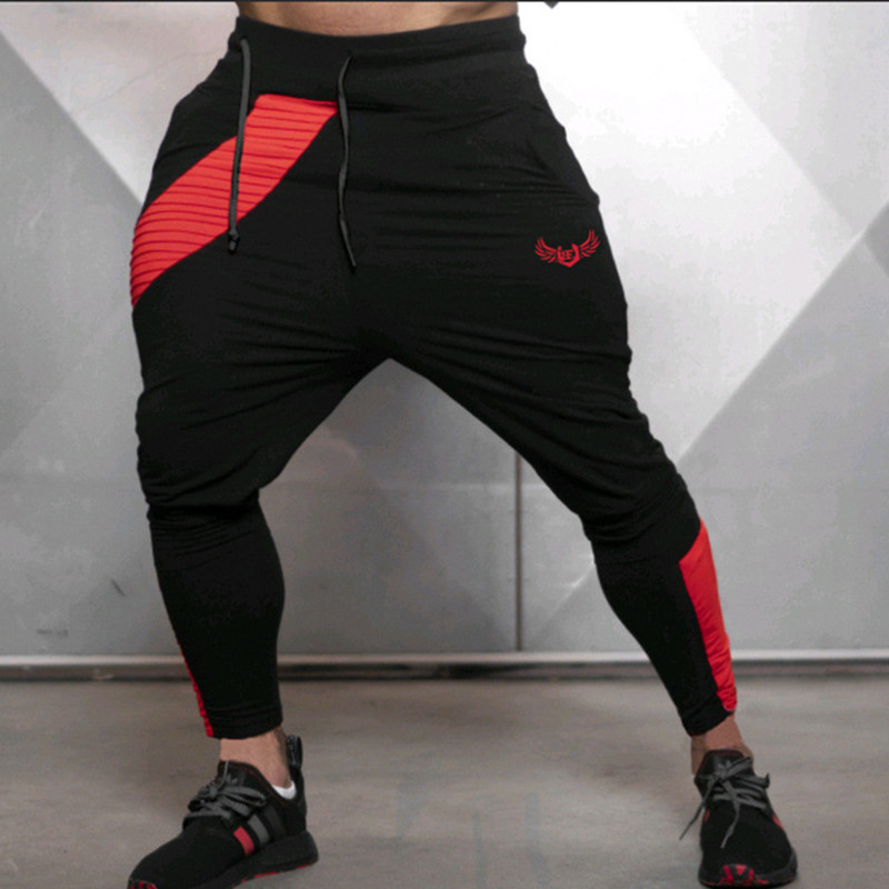 New Men Joggers Brand Male Trousers Casual Pants Sweatpants Jogger Grey Casual Elastic Cotton Gyms Fitness Brand Logo Sweatpants