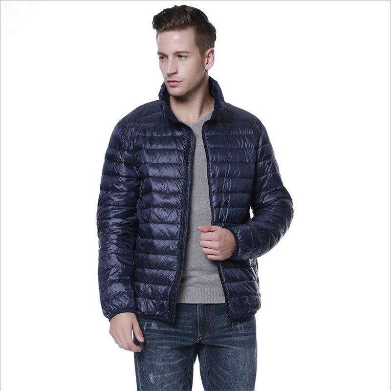 Plus Size Brand Clothing 6Xl Men'S Down Jackets Winter Warm Coat Leather Men Jackets Vest Male  Chaqueta Hombre Men Park Mc928