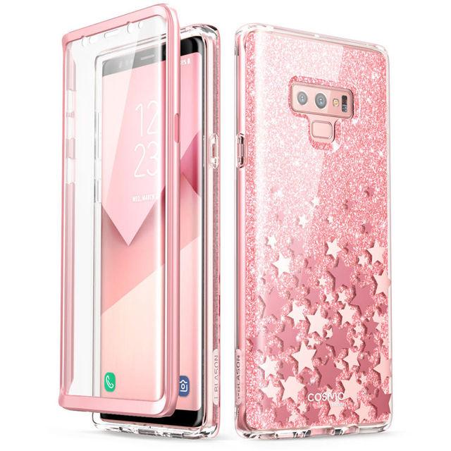 Do Samsung Galaxy Note 9 Case i blason Cosmo Full Body Glitter marmurowa osłona ochronna zderzaka z wbudowanym ochraniaczem ekranu