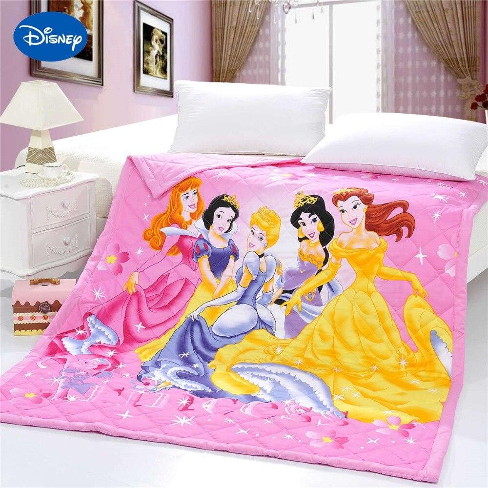 Beautyful Disney princesse été courtepointes couette literie coton lit propagation couverture 3D impressions dessin animé chambre décor filles ensemble doux