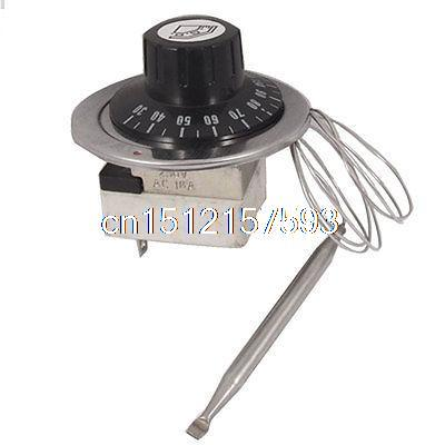 Electric Oven 30-110 Celsius NO NC Temperature Capillary Thermostat AC 250V 16A 10pcs ksd301 92 celsius temperature switch bimetal disc thermostat nc