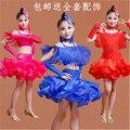 Children's Latin dance costumes children's clothing for girls new sequined tassels game show veil do91