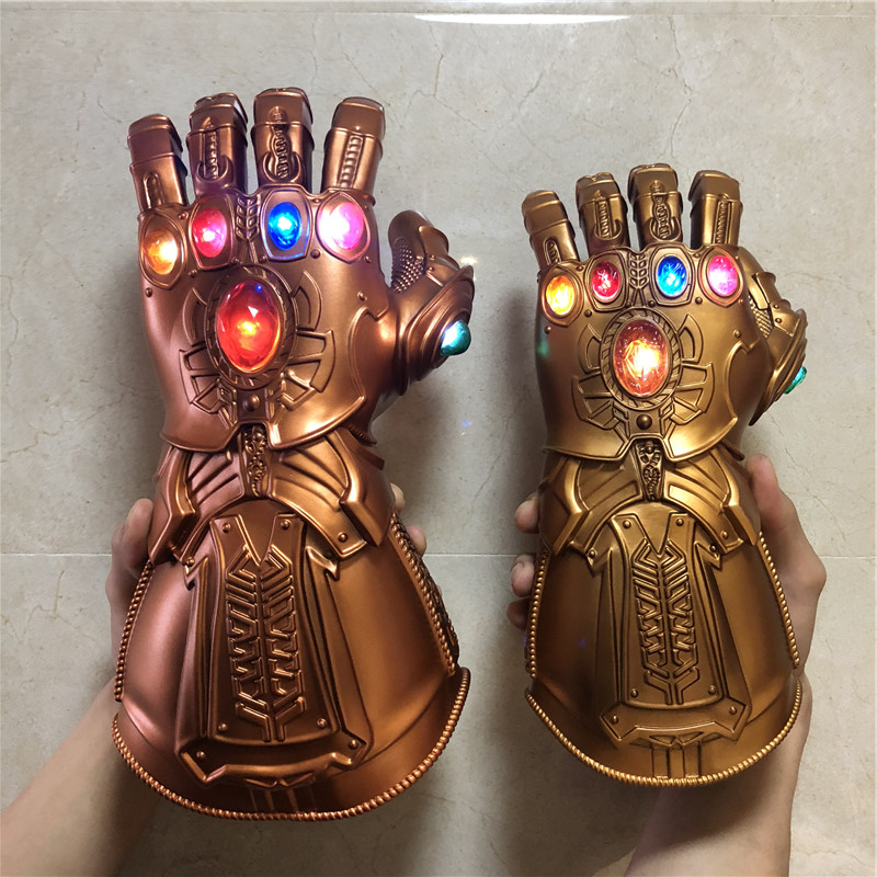 Kid Children Thanos Glove Infinity Gauntlet LED Light Avengers 4 Toy Cosplay