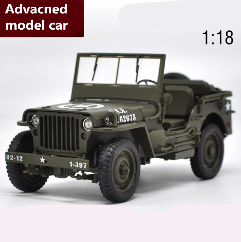 все цены на Advanced collection model 1:18 alloy car toy,High simulation 1941 Willys MB,diecast metal model toy vehicle,free shipping онлайн