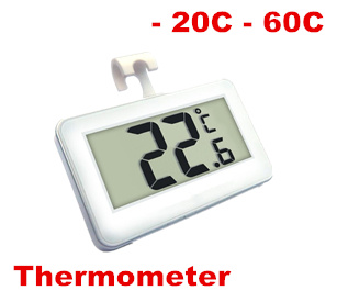 honestycentre Thermometer Temperature  for Fridge Freezer Room - 20C - 60C Waterproof With Magnetic Hanging Hook Frost Alert 50% off