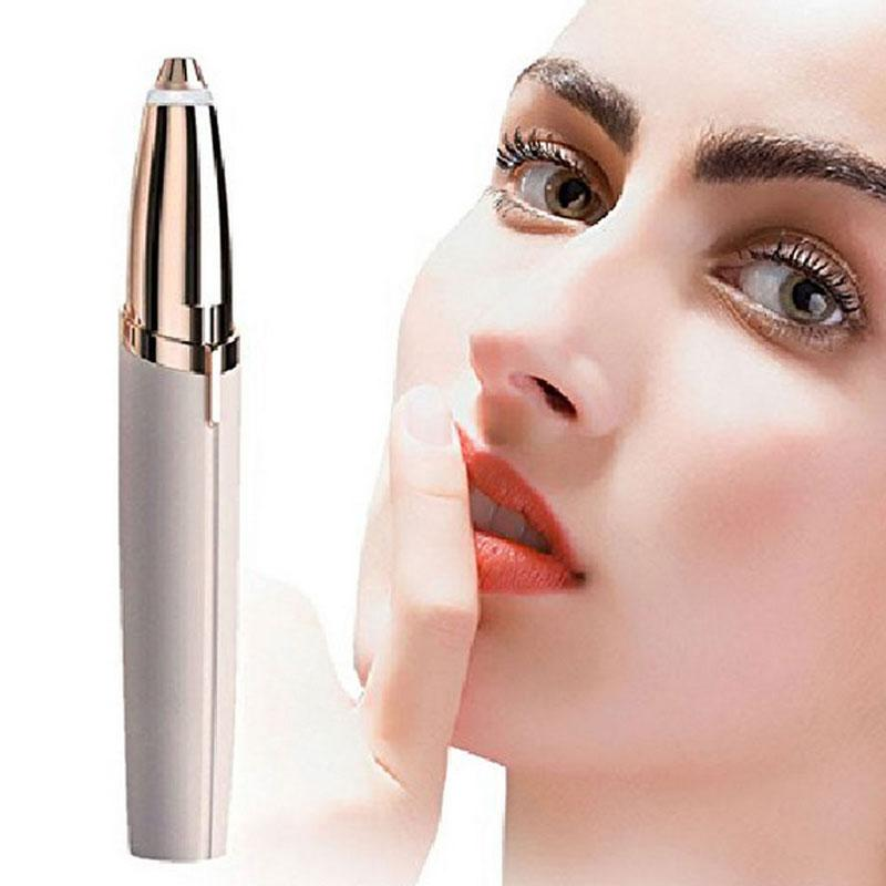Lipstick Eyebrow Trimmer Brows Pen Hair Remover Mini Electric Shaver Painless Eye brow Epilator S-Brows with LED Light Hot Sale цена 2017